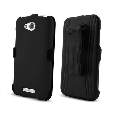 Click to buy Beyond Cell 3-in-1 Combo Set Protector Case, Holster Belt Clip and Screen Guard for HTC One VX - Non-Retail Packaging - Black - From only $23.58