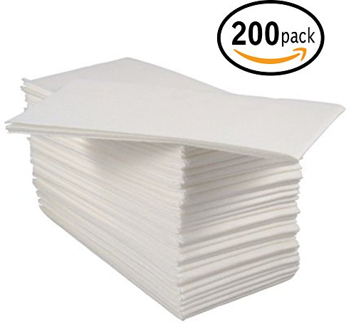 Bloomingoods Disposable Linen-Like Guest Hand Towels / Cloth-Like Paper Napkins, White, Pack of 200
