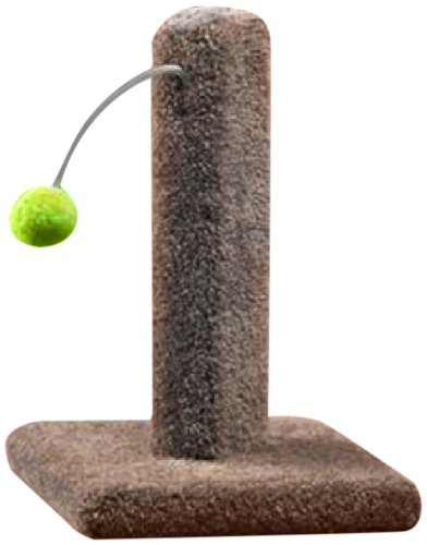 Ware Manufacturing Carpeted Kitty Cactus Scratch Post with Pom Pom, 16-Inch (Ware Scratching Post compare prices)