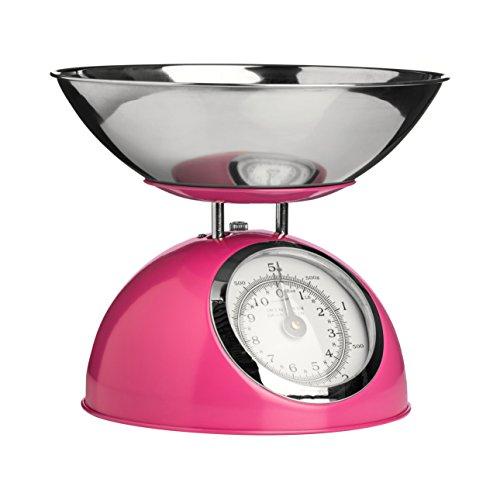 Premier Housewares 0807279 Balance de Cuisine Electronique avec Bol Acier Inoxydable Fuchsia