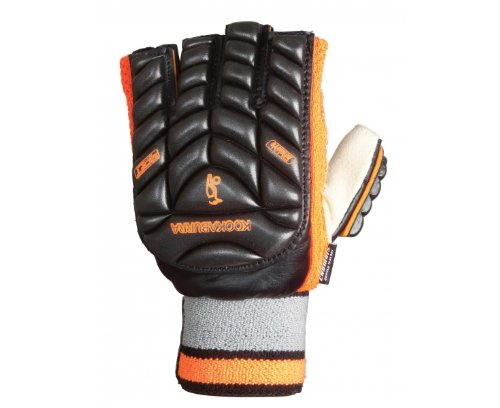 Kookaburra 2012 Reflect Hockey Handguard - Black/Orange, Medium Left Hand