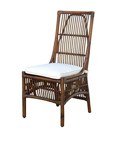 Panama Jack Bora Bora Side Chair With Cushion, Antique