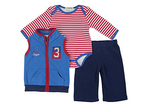 Alfa Global Baby-Boys Infant Three-Piece Micro-Fleece Set Blue 3-6 Months back-374616