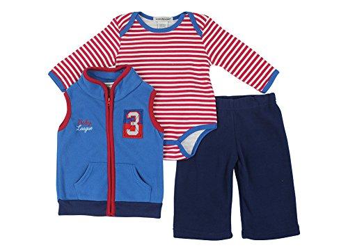 Alfa Global Baby-Boys Infant Three-Piece Micro-Fleece Set Blue 0-3 Months front-447703