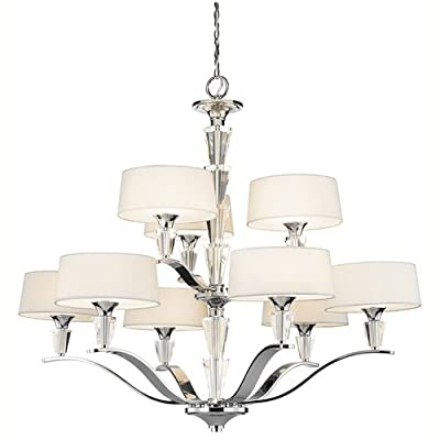 "Kichler 42031 Crystal Persuasion 2-Tier Chandelier with 9 Lights - 72"" Chain In,"