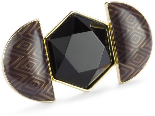 House of Harlow 1960 14k Gold-Plated Hexagon Ring, Size 8
