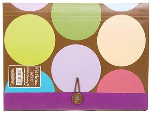Carolina Pad Hot Chocolate 13-Pocket Accordion Folder Circle Design, 12.88 x 9.25 x 1.38 Inches (15011)
