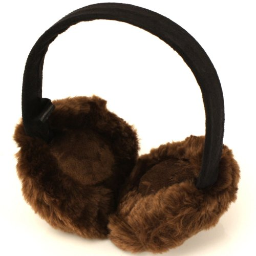 Winter Fuzzy Ski Earmuff Ear muff Warmer Headband Brown