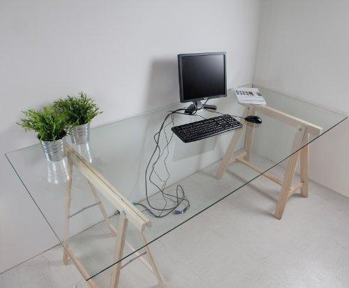 Glasplatte-Klarglas-fr-Schreibtisch-775-x-2050-x-8mm-8mm-Sicherheitsglas-mit-Kabeldurchfhrung
