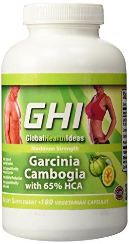GHI 65% HCA PURE GARCINIA CAMBOGIA EXTRACT 180 Capsules