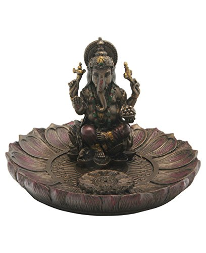 Ganesh Round Lotus Incense Holder