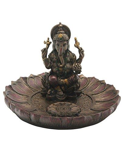 Ganesh Round Lotus Incense Holder