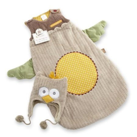 Baby Aspen My Little Night Owl Snuggle Sack And Cap, 0-6 Months back-994337