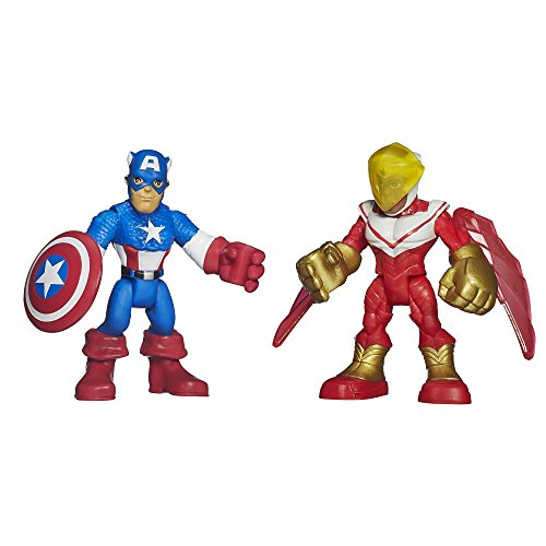 Playskool Heroes Marvel Super Hero Adventures Captain America and Marvel's Falcon Figures - 1