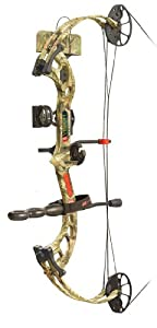 PSE Ready To Shoot Vision Bow Package with Right Hand 60# Draw, Break-Up Infinity,... by PSE