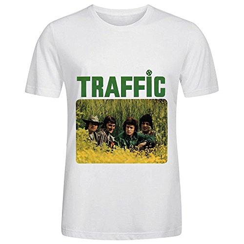 Traffic Traffic Tour Soundtrack Mens O Neck Graphic Tee White (Traffic Condit compare prices)