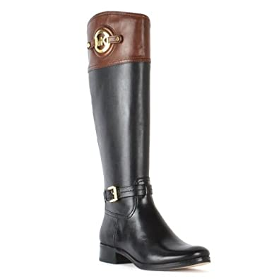 michael michael kors stockard black leather riding boots. Black Bedroom Furniture Sets. Home Design Ideas