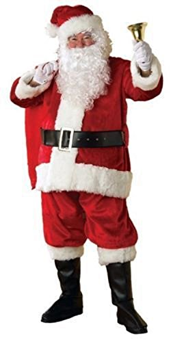 NEW Rubies 23342 XL Size Complete Costume Regency Plush Christmas Santa Suit