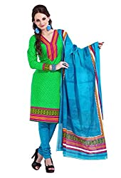 HIFI Ethnicwear Women's Dress Material(HIFI 3211_Green_Free Size)