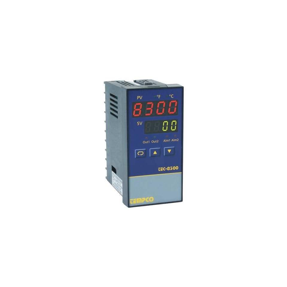 TEMPCO TEC14044 Temp Controller,Prog,90-250V,Relay2A
