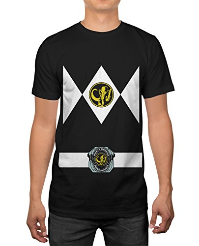 Power Rangers Black Ranger Uniform Mens Costume T-shirt XXL (Black Ranger Shirt compare prices)