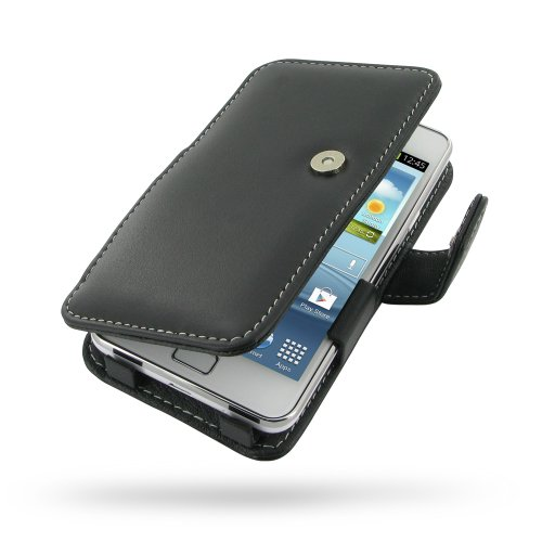 Samsung Galaxy SII S2 Plus Leather Case -GT-i9105P - Book Type (Black