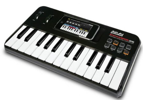 ���¹�͢����Akai Professional.LP iPhone/iPod touch�ѥ����ܡ��ɡ�����ȥ?�顼 SYNTHSTATION25
