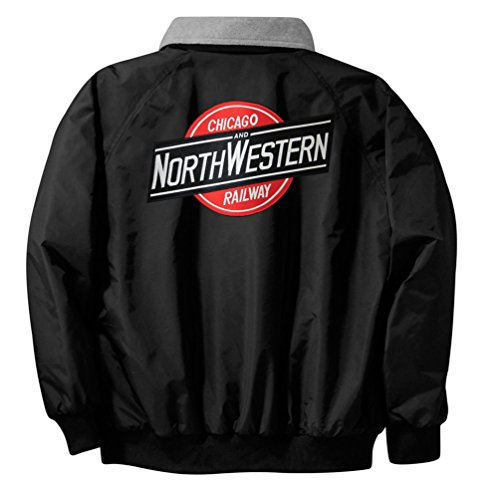 [Chicago & Northwestern Embroidered Jacket Front and Rear Adult XL [17r]] (Pirate Coat For Sale)