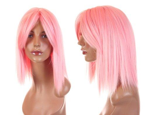 Cosplayland C017 - Naruto SAKURA Pink Rose 40cm heat-resist Cosplay Wig Wigs