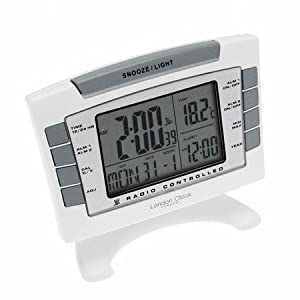 digital radio controlled alarm clock by lc design kitchen home. Black Bedroom Furniture Sets. Home Design Ideas