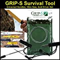 FastFire Grip-S Survival Tool with Handles, Drivers and Wire Saw from SolKoa