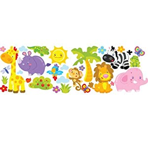 "STIKID ""Jungle Fun"" MEGA STICKER - 130x42 cm - pegatinas de pared"