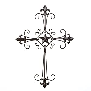 Amazon.com: Gifts & Decor Lone Star Wall Cross Spiritual ...