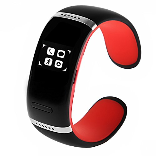 Oceantree Bluetooth Smart Bracelet Wrist Watch Phone For Ios Android Samsung Iphone Htc Oled Display (Red)