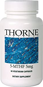 THORNE RESEARCH - 5MTHF (5-mg) - 60 caps [Health and Beauty]