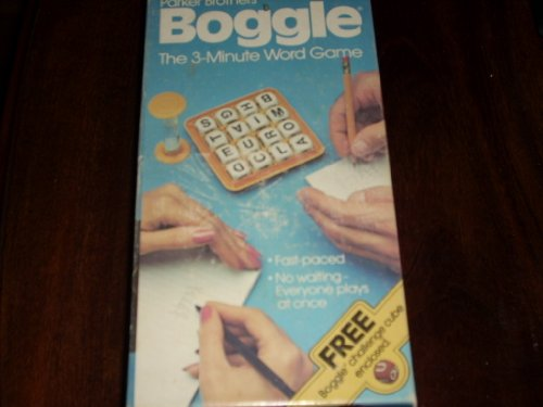 Very Pictionary Boggle Challenge Cube 3 Minute Word Game Parker