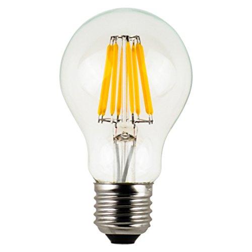 LIGHTSTORY Vintage LED Filament Bulb A19 - 6W LED Light Bulb, Medium Screw E26 Base, Clear Soft White 2700K, LED Edison Bulb 60W Equivalent, 120VAC, Non-dimmable