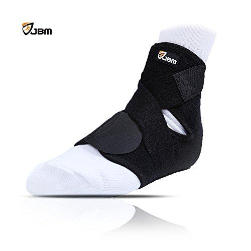 JBM Knöchelbandage Bequemes Polster um Knöchelverstauchungen und schmerzhafte Verletzungen beim Laufen Football Fußball Basketball Volleyball Tennis zu verhindern (Einheitsgröße die den meisten passt, Schwarz)