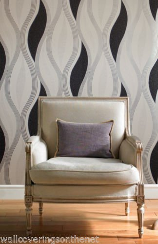 black-glitter-waves-silver-white-quality-textured-vinyl-feature-wallpaper