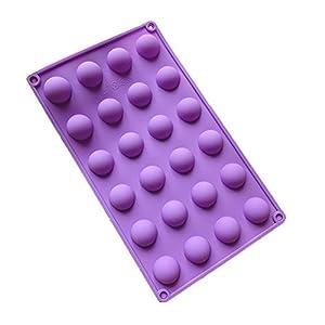 "Silicone Mould 24 Small (1"") Semi-Circle/Half Spheres/Balls-Cake Pops/Chocolates Etc, FREE POSTAGE"