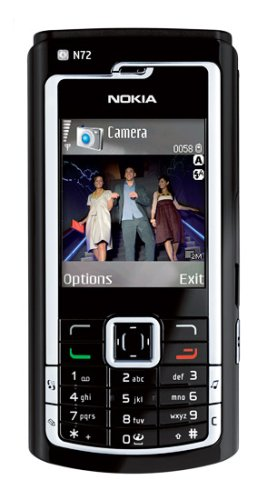 Nokia N72 Unlocked Cell Phone with 2 MP Camera, MP3/Video Player, SD/MMC--International Version with Warranty (Black)