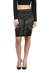 Embellished Black Party Skirt