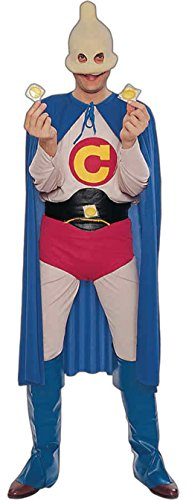 GTH Men's Funny Stag Do Captain Condom Theme Party Fancy Costume, One Size