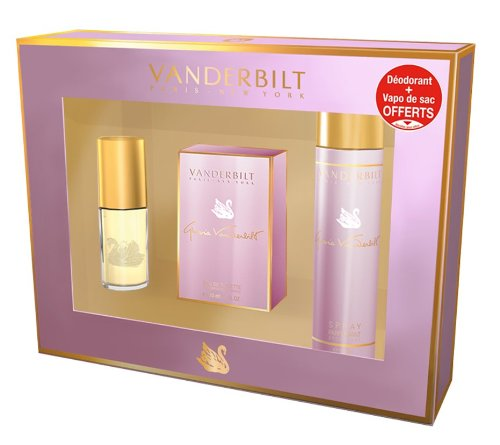 Gloria Vanderbilt, Set con Eau de Toilette (30 ml), Profumo da borsetta (15 ml) e Deodorante spray (150 ml)
