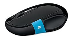 Microsoft Sculpt Comfort Mouse for Windows 7/8 with Bluetooth, EN/XC/XD/XX Canada Hardware, Black (H3S-00004)