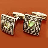 A Pair of Square Shining Vintage Design Cufflinks Cuff Links Elegant Gift for Father Boyfriend Men's Suit Wedding with Gift Box