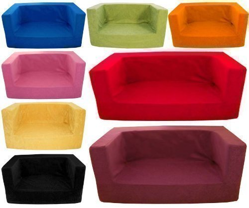 childrens-comfy-foam-2-seater-mini-sofa-in-red-soft-colourful-comfortable-lightweight-with-a-removea