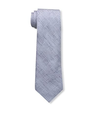 Valentino Men's Plaid Tie, Blue Check