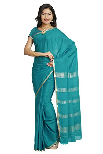 Kaushika Sarees Pure Crepe Traditional Mysore Silk Ananda Saree (KC6005_ANANDA)