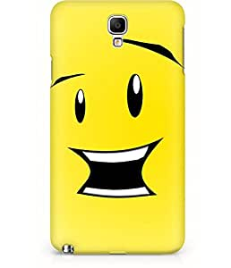 Amez designer printed 3d premium high quality back case cover for Samsung Galaxy Note 3 Neo (Cute Cartoon Smile.JPG)